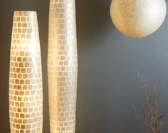capiz shell gold floor lampcollectiviste on etsy | interior