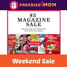 Any magazines on your wishlist? See if they're included in this $5.00 SALE http://freebies4mom.com/5magsale
