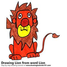 Lion from word Lion