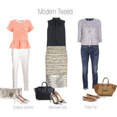 Tweed by cocouture. How to rock Tweed in a modern world! via Polyvore