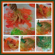 Read Strega Nona and make a Spaghetti Broom painting