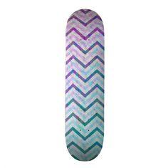 Skateboard Retro Zig Zag Chevron Pattern  http://www.zazzle.com/skateboard_retro_zig_zag_chevron_pattern-186046644030426167