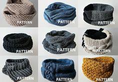 (6) Name: 'Knitting : 9 Scarf / Infinity Scarf Patterns