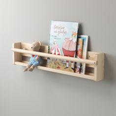 Look what I've found at IKEA - wall hooks for children Kids Wall Shelves, Hanging Bookshelves, Ikea Shelves, Display Shelves, Nursery Shelves, Bookshelves In Nursery, Book Shelf For Nursery, Ikea Kids Bookshelf, Kallax Shelf