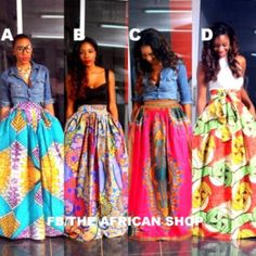 The African Shop-Skirts - African Wear Style African Inspired Fashion, African Print Fashion, Fashion Prints, African Prints, African Fabric, African Print Skirt, Ankara Fashion, African Attire, African Wear