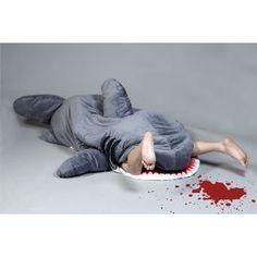 shark-shaped sleeping bag... victim not included.