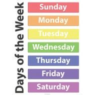 Poster:  Days of the week