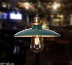 Vintage-Green-DIY-Metal-Ceiling-Lamp-Pendant-Light-Chandelier-LED-Edison-Bulbs