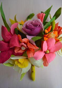 Jodi Levine's crepe paper flower bouquet