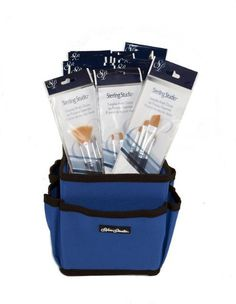 SILVER BRUSH Limited Black Sterling Studio 4-pc Sets with BLUE Handi-Pak Tote Bag >>> Click on the image for additional details.