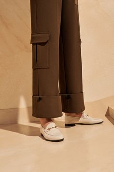 + Long length with transformer cuffs + Perfect for every height: these trousers look great turned up for shorter frames Back To Work, Trousers Women, Transformers, Looks Great, Wide Leg, Cuffs, September, Frames, Normcore