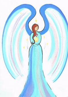 Angel bringing calming energy, strength and the power of the Divine Mother to a mother to be.