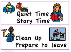 Labels and Locators - Victories 'N Autism Visual Schedule Printable, Mayer Johnson, Social Stories, Aba, Pre School, Social Skills, Clutter, Kids Learning