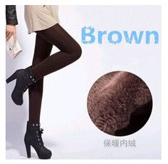 1pc/lot HOT SALE!! Women's Double Layers Bamboo Charcoal Cotton Tight Warm Lady's Winter Thick Tights Free Shipping 8 Color