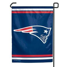 "Patriots Garden Flag 11""x15"" These garden flags are a great way to show who your favorite team is, and also makes a great gift! They are a great addition to any yard or garden area. They are 11""x15"" in size, are made of a sturdy polyester material"