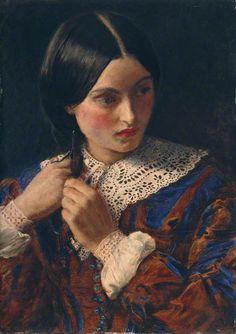 John Everett Millais.Only a Lock of Hair