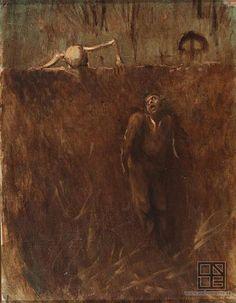 Laszlo Mednyanszky ''memento:scene of Horror'' {1895}