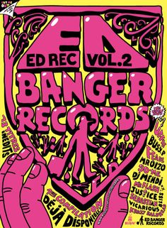 Artwork for Ed Banger Records, by So Me.