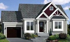 House Plan 49797 Elevation.  This 900 square foot gem looks like it could be the prefect retirement abode.