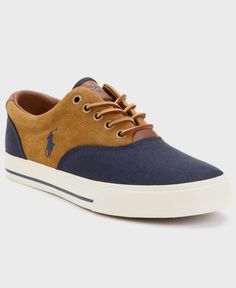 01ac2eed3469 Polo Ralph Lauren Vaughn Saddle Sneakers Men s Shoes A preppy classic with  all the right detailing. Lace up signature style with ease in these saddle  ...