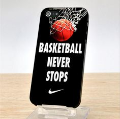Nike Basketball Never Stops iPhone Case Cover, iPhone 4 Cace, iphone 4S Case, iPhone 5 Case