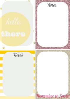 Free Printable: Glitter - Bright Journal Cards (1)