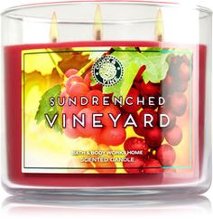 Sundrenched Vineyard 3-Wick Candle - Home Fragrance 1037181 - Bath & Body Works