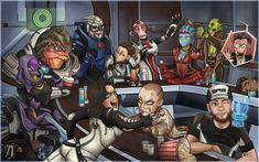 I didn't expect Mass Effect to be something that would make such a mark on me. I can't think about the characters without getting filled with all sorts of emotions.This was a huge endeavour f. Mass Effect Funny, Mass Effect Garrus, Mass Effect 1, Mass Effect Universe, Mordin Solus, Commander Shepard, Fans, Fan Art, Dragon Age