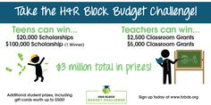 Great contest from H&R Block dealing with personal financial literacy for high school students. Read about it in my blog post!