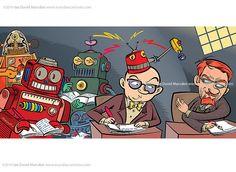 Robots copying scientific information by Ian David Marsden, via Flickr