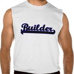 Builder Classic Job Design Sleeveless T-shirts Tank Tops