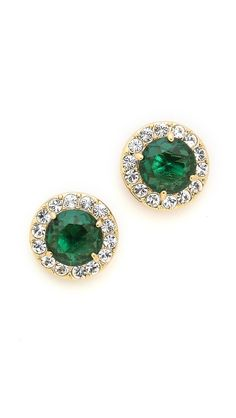 emerald sparkle studs by kate spade new york