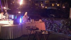Private chef cooking pizzas on the grill at at Modern Woodmen dinner event. This. Was. Awesome!