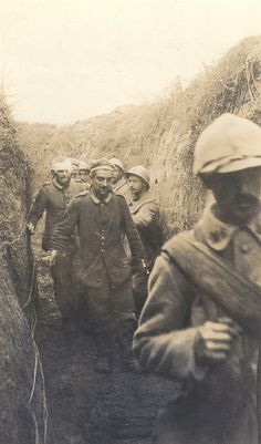 World War I Battle of the Somme German held prisoners at Vermandovillers In September 1916