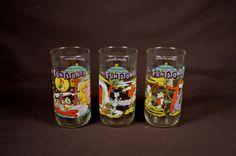 1991 The Flintstones Glasses Hardee's, Hanna Barbera