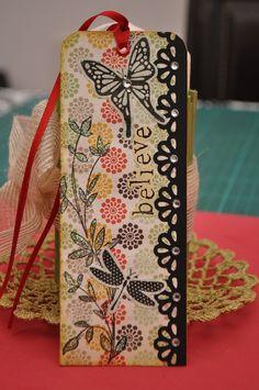 El cajón del scrap: Marcapáginas scrapbook / Scrapbook bookmarks