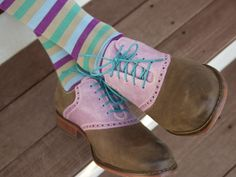 Hook & Albert Socks and Cole Haan Saddle Shoes