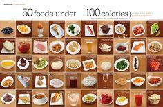 50 foods under 100 kcals