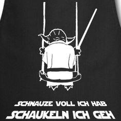 """Motiv: """"Schnauze voll ich hab, schaukeln ich geh""""  Cooles selbsterklärendes Shirt für alle Yoda-Fans passend zum aktuellen Shirt-Trend à la """"mir reicht´s, ich geh schaukeln""""!"""