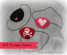 Pirate Patch, Mateys! {Party or Valentine's Day Craft}