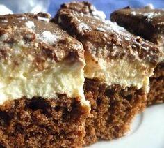 Túrós-kávés szelet Hungarian Desserts, Hungarian Recipes, Cake Recipes, Dessert Recipes, New York Style Cheesecake, Sweet Like Candy, Tiramisu, Sweet And Salty, Cake Cookies