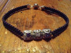 Purple Square Bracelet by BeccasjamsandCrafts on Etsy https://www.etsy.com/listing/233804890/purple-square-bracelet