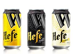 Widmer Brothers Brewing Hefeweizen packaging update by Hornall Anderson. The black is beautiful.