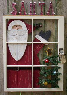 """Képtalálat a következőre: """"old window ideas for christmas"""""""