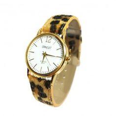 Beauty! #Ernest #horloge in #luipaard print! Kijk voor meer de mooiste #ernest #horloges op www.doorzo.nl