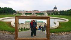 Belvedere palace - Vienna, Austria on a rainy day