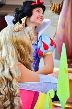 Aurora from Sleeping Beauty & Snow from Snow White and the Seven Dwarves