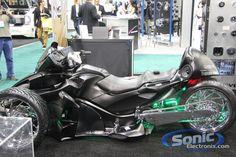 can am spyder custom | Can-Am Spyder w/ Massive Audio Gear @ CES 2012 | Sonic Electronix Blog