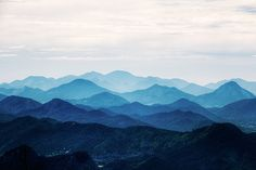 Misty Mountain Wallpaper Foggy Mountain Silhouette by DreamyWall