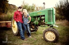 cute engagement pic... except that it is not an oliver tractor